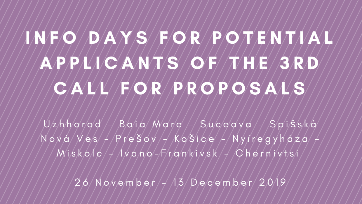 Info Days for potential applicants of the 3rd Call for Proposals