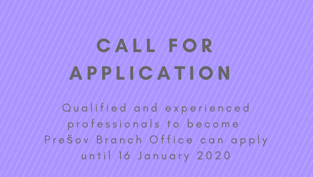 Call for Application for Branch Office Expert in Prešov