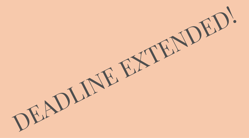 2nd Call for Proposals extended with one month
