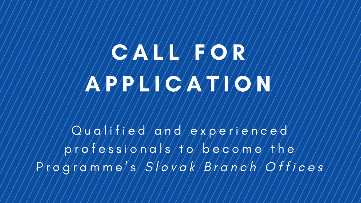 Call for Application for Branch Office Experts in Košice and Prešov