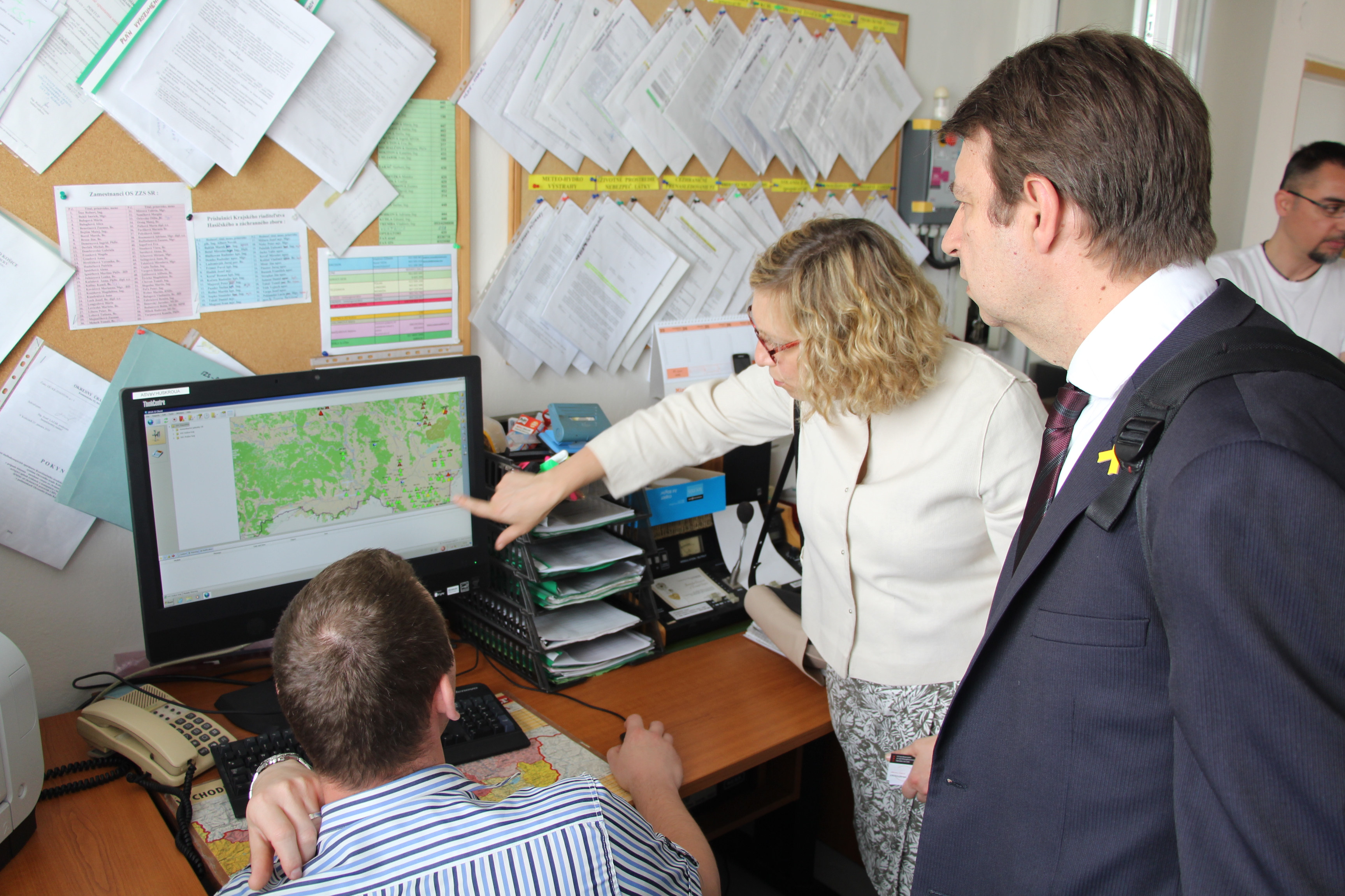 Commission visits Regional Operational and Crisis Centre in Košice financed by the Programme