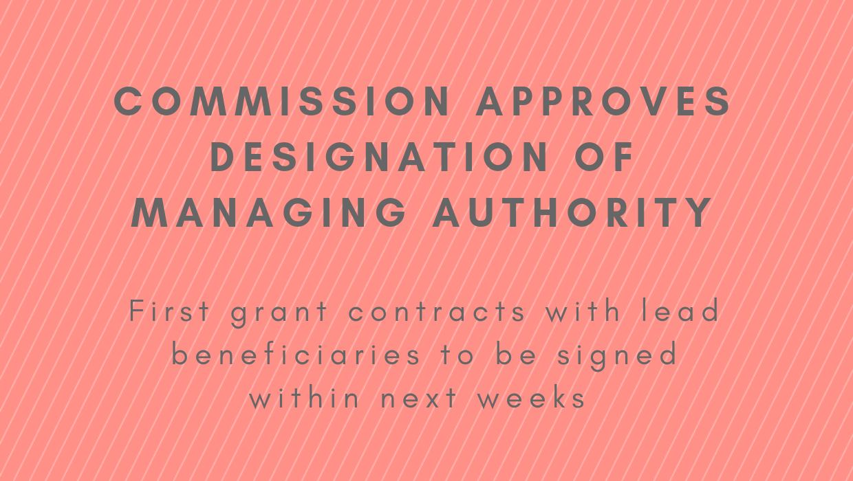 Managing Authority starts signing grant contracts after designation notification from Commission